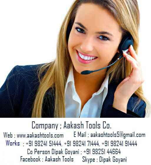 CONTACT INFO - by Aakash Tools Co., Ahmedabad