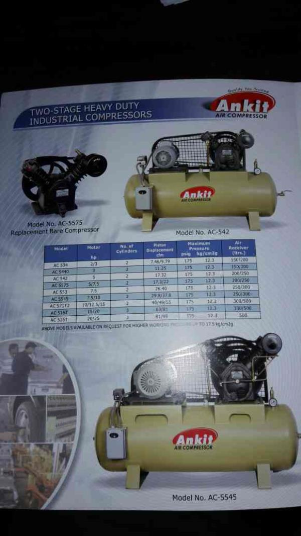 All types of two stage heavy duty industrial comoressors - by Ankit Air comp. Services, Ahmedabad