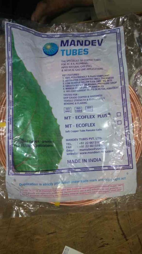 copper pipes dealer in sayajigunj , vadodara. copper pipes dealer in Anand. copper pipes dealer in Bharuch. Copper pipes dealer in padra. - by Om Refrigeration, Vadodara