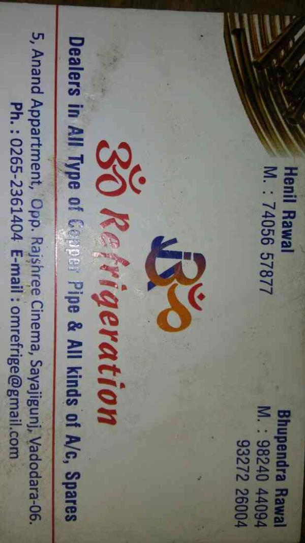 Om Refrigeration Vadodara. - by Om Refrigeration, Vadodara