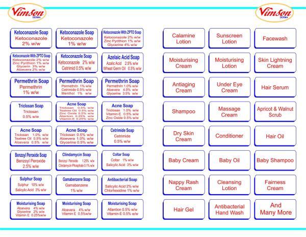 Product list  - by Vimson Derma, Ahmedabad