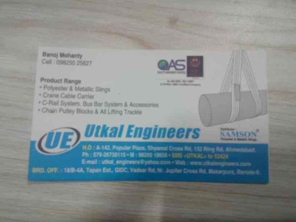 we are leading supplier for polyester and metallic slings in Ahmedabad in Gujarat - by Utkal Engineering, Ahmedabad