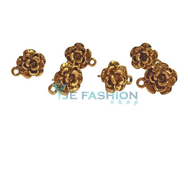 Back in stock  http://www.jefashionshop.com/jewel-supplies-bead-components/earring-components/earring--stud-bases/antique-gold-rose-flower-shaped-earringstud-base-21mm-jefs-erbse-ag-00004 - by JE Fashion Shop, Coimbatore