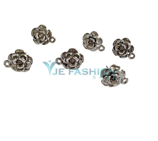 Back in stock  http://www.jefashionshop.com/jewel-supplies-bead-components/earring-components/earring--stud-bases/antique-silver-flower-shaped-earringstud-base-14x13mm-jefs-erbse-as-00003 - by JE Fashion Shop, Coimbatore