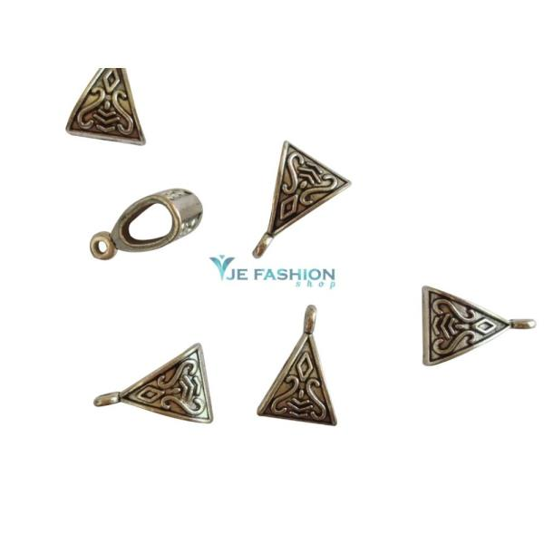 Back in stock  http://www.jefashionshop.com/jewel-supplies-bead-components/bead-bails/antique-silver-triangle-shaped-bails-11x16x7mm-jefs-bbail-as-00001 - by JE Fashion Shop, Coimbatore