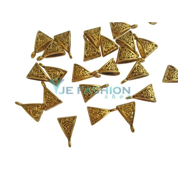 Back in stock  http://www.jefashionshop.com/jewel-supplies-bead-components/bead-bails/antique-gold-triangular-bails-8x12x3mm-jefs-bbail-ag-00001 - by JE Fashion Shop, Coimbatore
