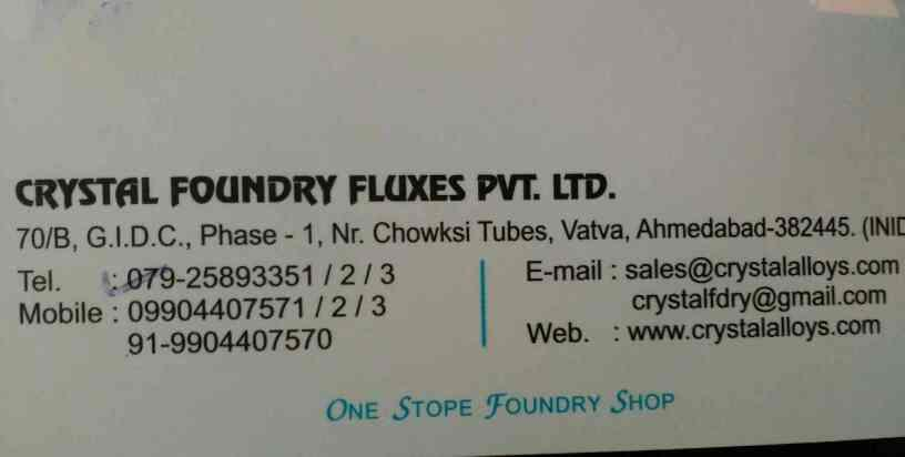 We are in market since last 1959 providing best foundry fluxes in Ahmedabad, Gujarat, India - by Gargi House, Ahmedabad