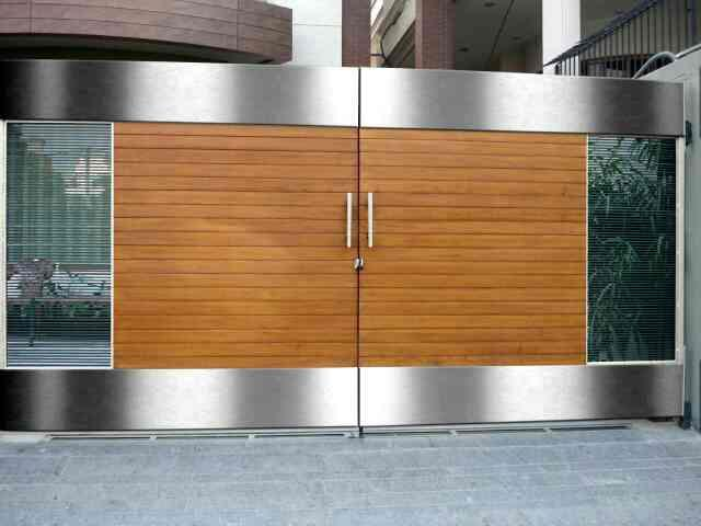 stain less steel main gate new design in faridabad - by Railing Stainless Steel, Faridabad