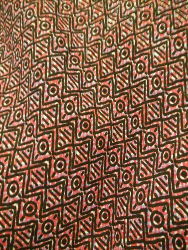 rayon  printed fabric  - by Stitchart, New Delhi