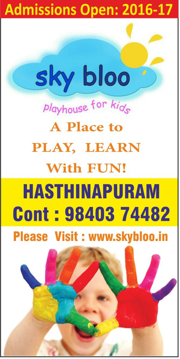Best Play school in Chrompet - by sky bloo playhouse for kids, chennai