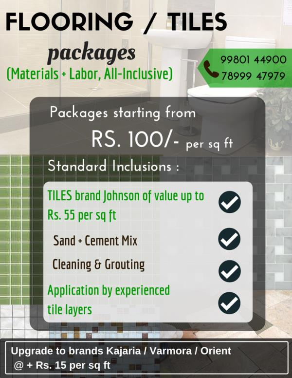Flooring packages - by BUILDNESS.com - For all your construction needs, Bengaluru