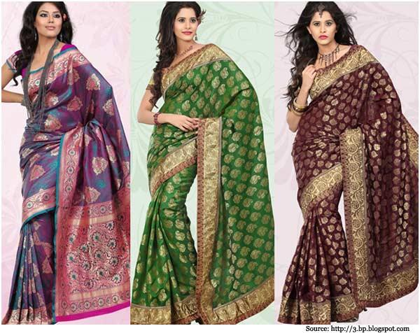 We are selling all type of Banarasi Sarees, quality is good and Pure silk Banarasi Material sell in best price for a Sarees Lover - by Karishma Dresses, Rajkot