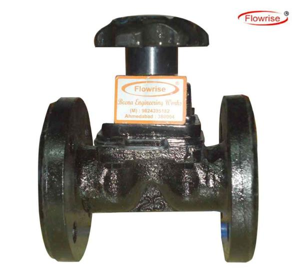 """Flowrise®""""""""A"""" Pattern Diaphragm Valves are Mfg. As per the International Standards of BS, ASA, DIN ND-10/16 in a different combination of Body & Seat Material to control the Line Fluids with Zero Leakage. A Uniform weir Profile ensures the - by Beena Valve, Ahmedabad"""