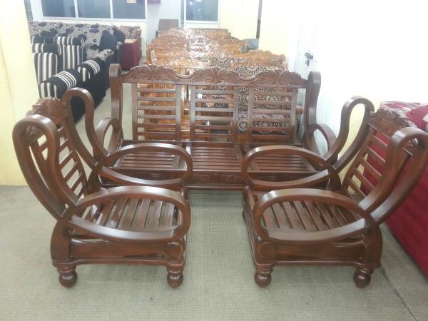 Teack wood sofa  - by Shiva Enterprises, Bangalore