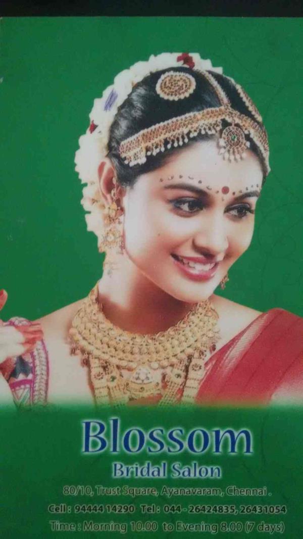 Best Bridal salon in ayanavaram, best bridal make up in ayanavaram, best herbal body massage in ayanavaram - by Blossom Bridal Salon, Chennai