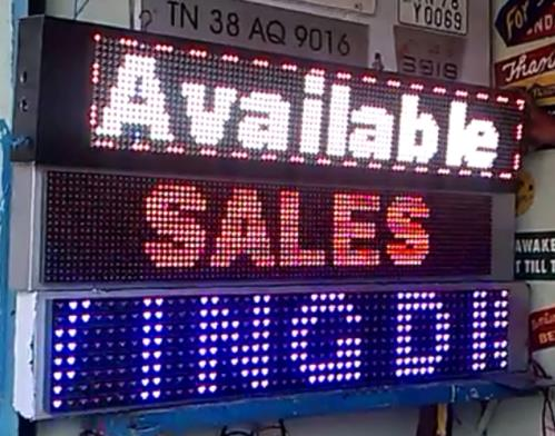 We Are The Manufacturers And Suppliers Of LED Moving Display In Coimbatore, Tamil Nadu, India LED Moving Display In Kerala, Karnataka, Andhara , Tamil Nadu Coimbatore - by BRIGHT LED'S, Coimbatore