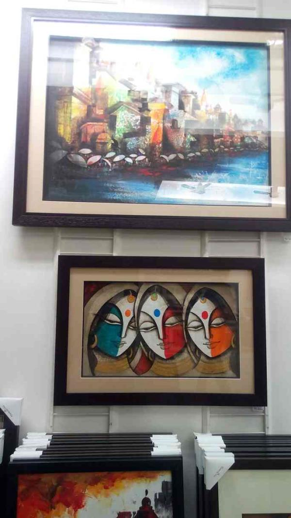 Hand made canvas  painting store in sayajigunj Vadodara.  - by Harmony Arts, Vadodara