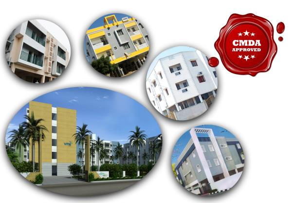 KNR Properties, the Best Real Estate Agent in Chennai offers CMDA Approved Flats For Sale in Poonamallee, Mangadu and Urapakkam.  VME, Lake side, CMDA Approved Flats for sale in Poonamallee high road. Sri Andal's Iris, CMDA Approved Flats f - by KNR PROPERTIES PVT LTD -9566659804, Chennai