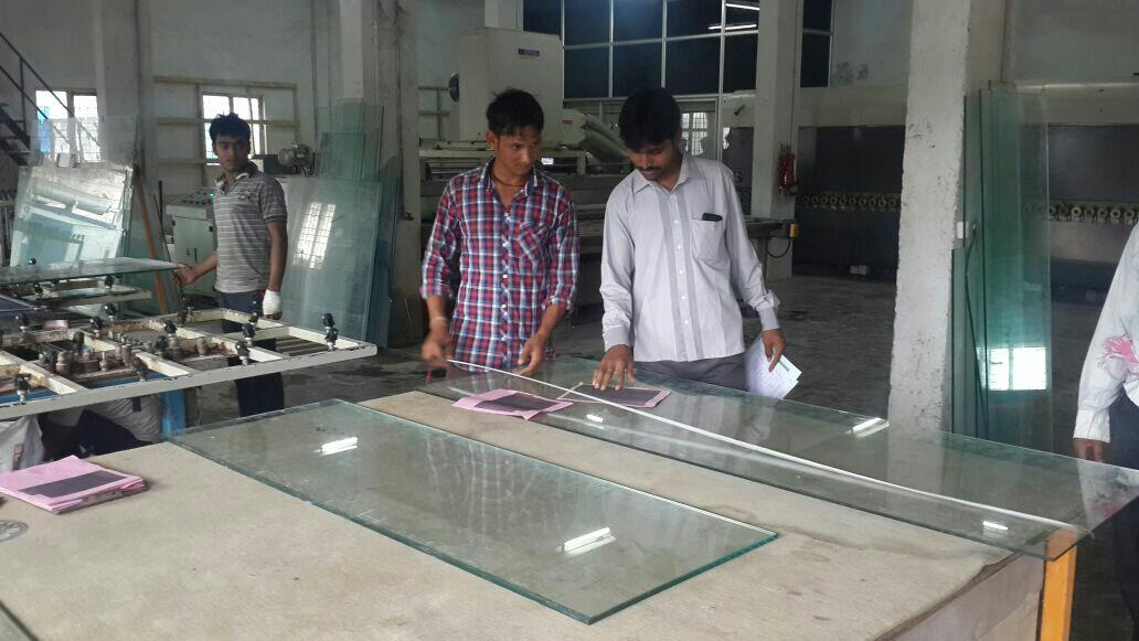 Glass Cutting Process. This is an amazing time for the glass to get cut accurately by specialised professionals. - by OM GLASS | GLASS MANUFACTURERS | ANDHRA PRADESH, Visakhapatnam