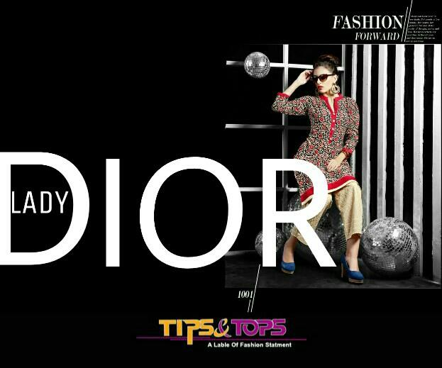 New catalogue launching this week Lady DIOR... kurtis with pants cum palazzos of different materials - by Kashish Studio, Ahmedabad