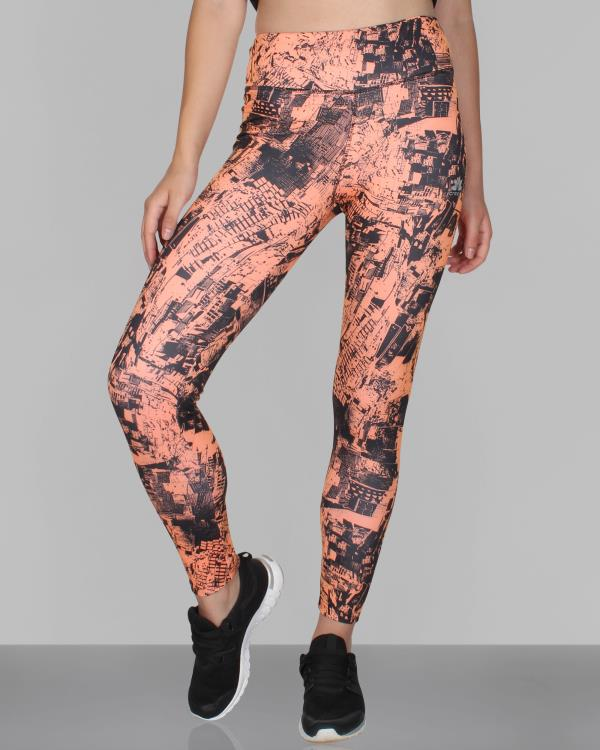 This pair of printed sports tights from Creez are must have in your gym wear collection. You can carry it with a black top or sports bra and sports shoes for a complete athletic look.  Buy now these leggings http://goo.gl/z4ZFV2  - by Creez Activewear | Yoga Wear | Gym Wear | Sportswear, North West Delhi