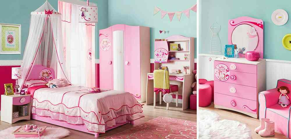 Your little princess room turns into a stage from fairy tales with the perfect harmony of the pink and birch wood pattern.  - by KK Enterprise, Rajkot
