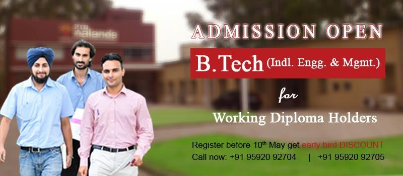 Part Time B.Tech Degree  Get your b.Tech degree without leaving your job. We provide classes on weekend. For more details visit: www.tqmbizschool.org - by PTU Nalanda School of TQM & Entrepreneurship, Mohali