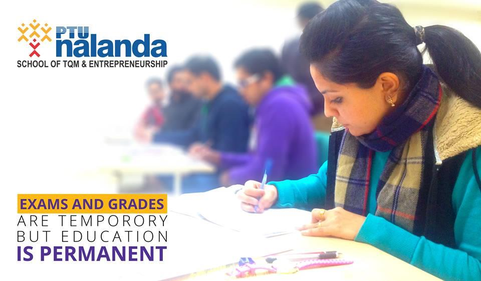 Regular Degree in Part-Time Mode PNSTE provide MBA and B. Tech Degree in part-time mode to the working professionals in any industry. PNSTE beleives and delivers quality education. We have rich industry experienced faculties and  well equip - by PTU Nalanda School of TQM & Entrepreneurship, Mohali