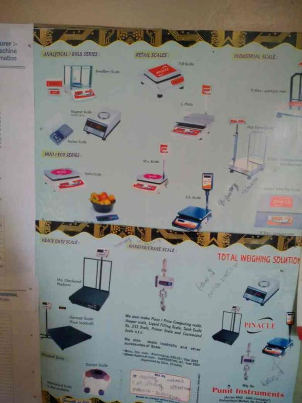 we are leading manufacturer of weighing scale. - by Punit Instruments, Ahmedabad