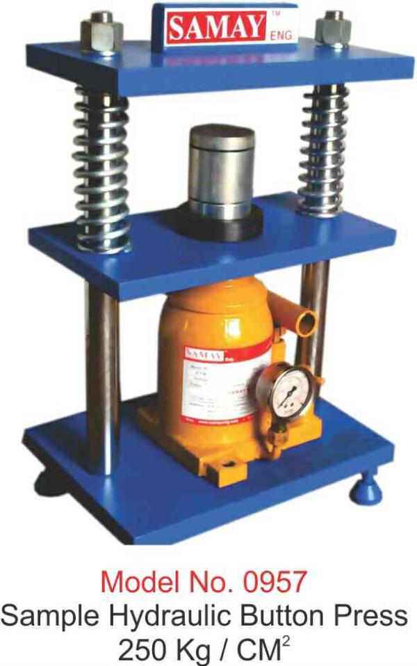 we are leading manufacturer and supplier of hydraulic button press in morbi - by Samay Eng, 8 A National Highway, Morbi
