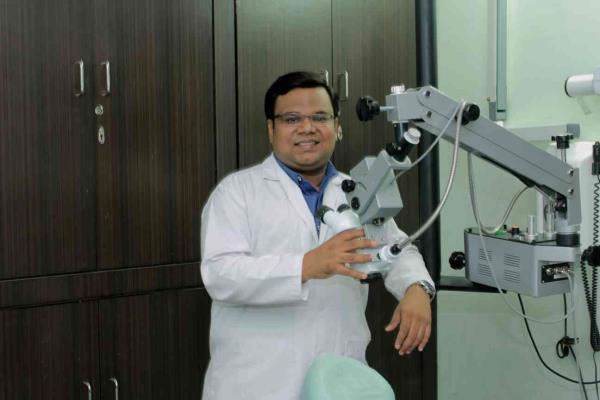 I am a laser dental specialist who practices under a microscope - by Dr. Pratiek Gupta, Hyderabad
