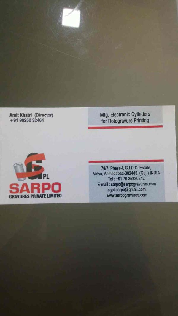 plz contact for printing roller and electronic cylinders  - by SARPO GRAVURES PRIVATE LIMITED, Ahmedabad