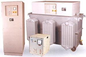 Servo Controlled Voltage Stabilizers are  manufactured in the following ranges. SINGLE PHASE UNITS: Input-180-260V-single phase 50 Hz or 160-260V-single phase 50 Hz. Output-230 or 240 V+-1%-single phase 50 Hz. THREE PHASE UNITS: Input-300- - by Sv Technologies, Hyderabad