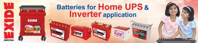 Inverter Batteries : Dealers for Exide / Amaron / Luminious  Inverter Battery – Exide Invaplus Very low maintenance: Special hybrid alloy system High reliability and extended cycle life: Ribbed free polyethylene pocket type separator along  - by Sv Technologies, Hyderabad