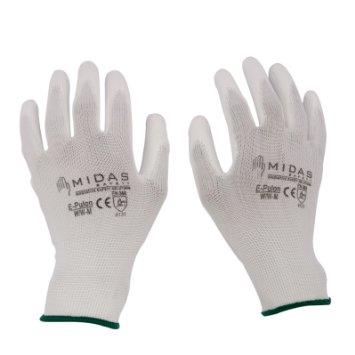 We are best supplier of PU coated hand gloves in vadodara gujarat india and mumbai maharastra india - by Nobel Safety, Vadodara