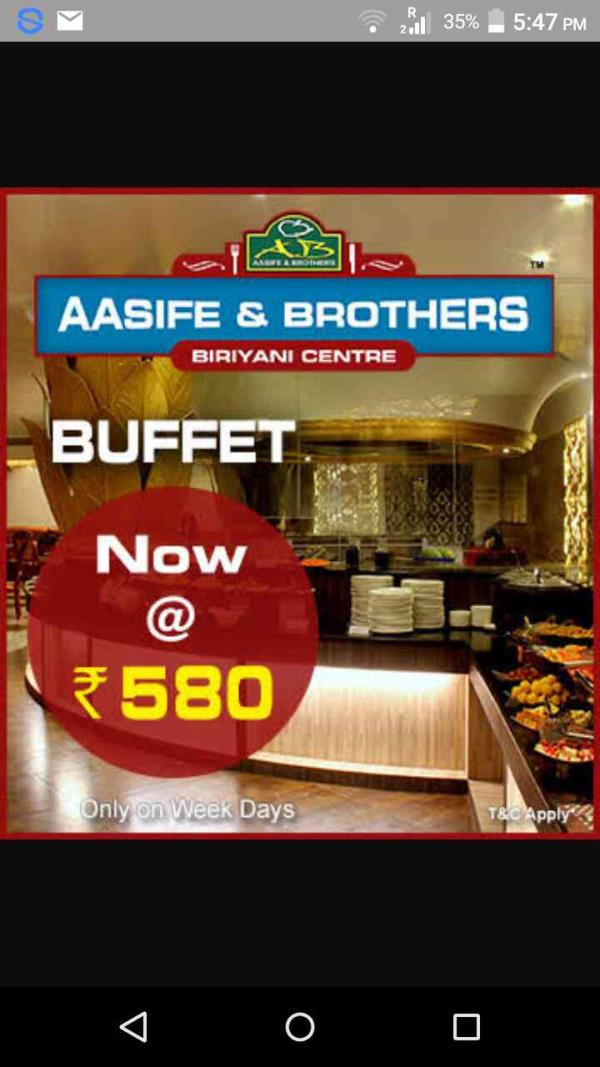 Buffet Start at Rs580 - by Aasife & Brothers Biryani Centre, Chennai