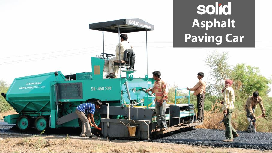 Solid Brand Asphalt Road Paver  First Time  In India   Like Tractor Operation Automotive Gear Box 5+1(R) speed, Single lever operated  (High / Low system) Gear Shifter equipped  High Perfomance,  Easy Operatoin,  Cost and Time Saving,  Repair Friendly,  Human Friendly leading Manufactures of Asphalt  Paver Finisher from Gujarat India