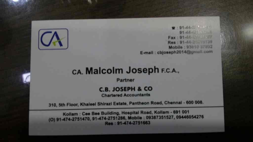 Best chartered accountant in Chennai...  - by C.B.Joseph & Co,, Chennai