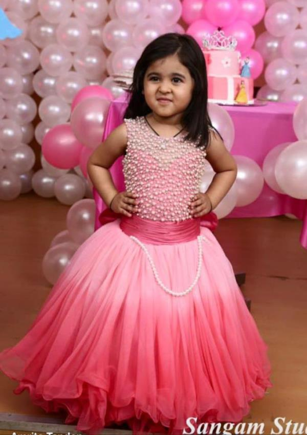 Get this pretty gown for your daughter just for 5500/- or 125 AUD.. You can even get it customised according to themes.. Order soon to get your piece on time. - by Shuchi's PANOPOLY STUDIO, Indore