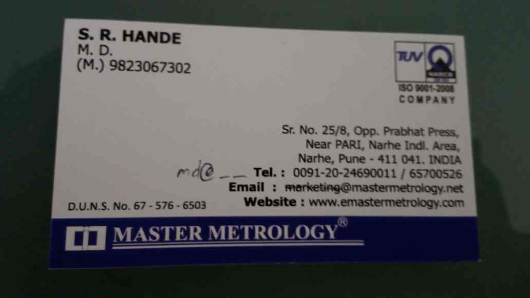 We are manufacturer of thread gauges based in pune - by MASTER METROLOGY, Pune