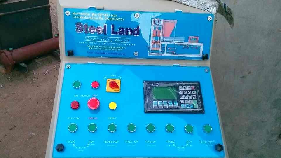 we are leading manufacturer o fly ash bricks technology  - by Steel Land Machinery Works, Satvara Estate, Pabchasar Road, Near Shivam Hall, Morbi