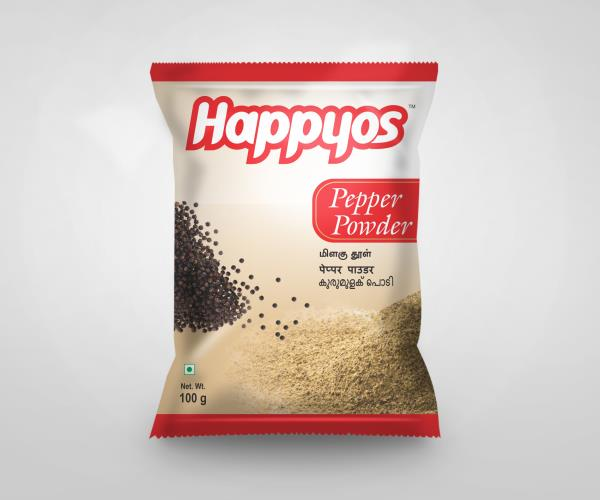 Manufacturers of Pepper Powder   Happyos is the leading Manufacturers and Exporters of Indian Spice Masalas like:   Fish Kulambu Masala Powder  Chilli Chicken 65 Powder  Chicken Masala Powder  Mutton Masala Powder  Mutton Biryani Masala Pow - by SP Caring Products India Private Limited, Coimbatore