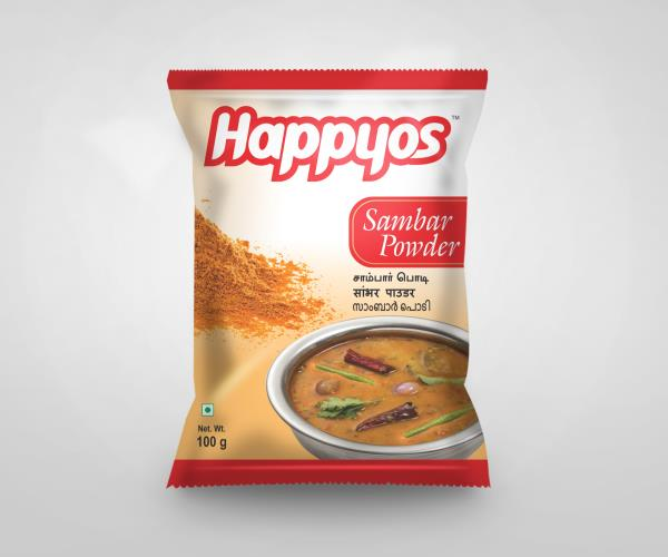 Manufacturers of Sambar Powder   Happyos is the leading Manufacturers and Exporters of Indian Spice Masalas like:   Fish Kulambu Masala Powder  Chilli Chicken 65 Powder  Chicken Masala Powder  Mutton Masala Powder  Mutton Biryani Masala Pow - by SP Caring Products India Private Limited, Coimbatore