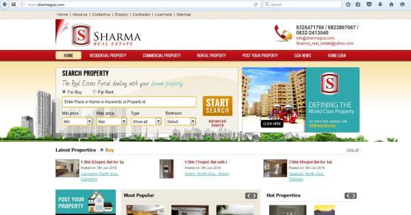 Property consultant in Panaji  http://www.sharmagoa.com/ - by Sharma Real Estate, Porvorim