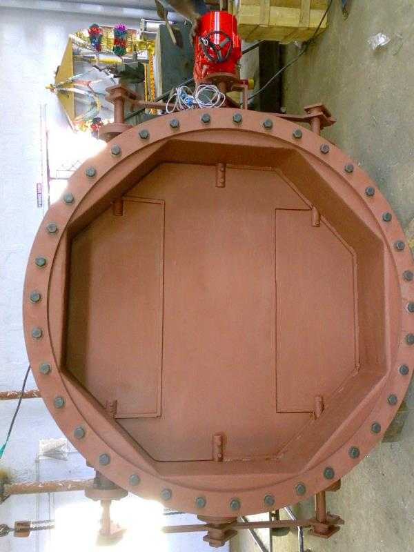 Butterfly Damper with Electrical Actuators In Coimbatore  Used in Cement factories  Size : 1600 mm  - by Coimbatoreflowcontrols, Coimbatore