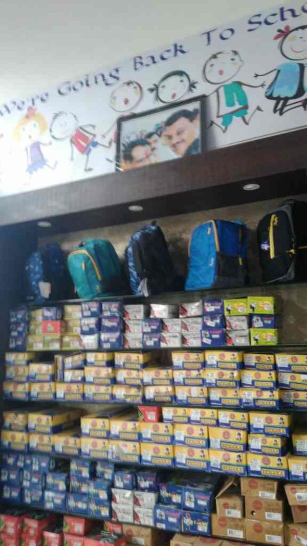 School bags are available here - by Monday Uniforms , Indore