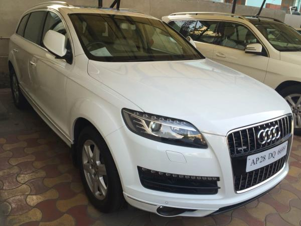 # Audi | Q7 | 3ltr engine | 2012 model | 49k Kms driven | white color | excellent driven | immaculate condition | fancy number | Hyderabad reg | single owner | - by Vasant Motors Pvt Ltd, Hyderabad