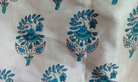 hand printed fabric - by Shubham Handicraft , Jaipur
