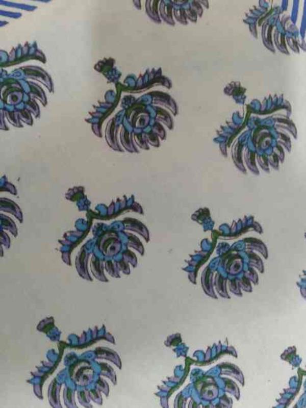 sanganeri printed fabric and bed sheet - by Shubham Handicraft , Jaipur