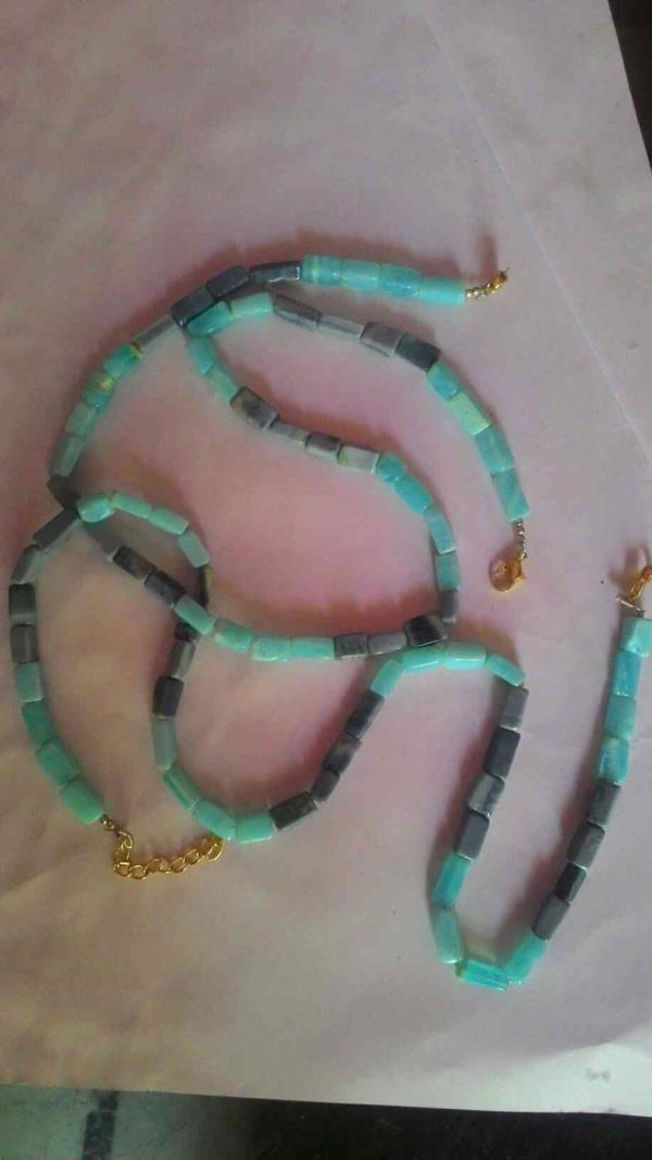 16 inch Multi Opal smooth cube beaded necklace...       We Are Manufacturer Of Beads In Jaipur - by Jaipur ANTIQUE BEADS, Jaipur
